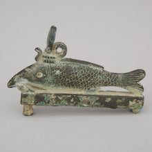 Ancient Egyptian Bronze Oxyrhynchus Fish Amulet, Late Period, 715-332 BC