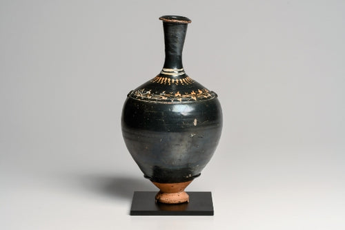 A Gnathian Greek Footed Ancient Bottle