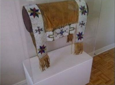 Sioux Saddle Blanket Ex. The Niagara Falls Museum - Native American Indian