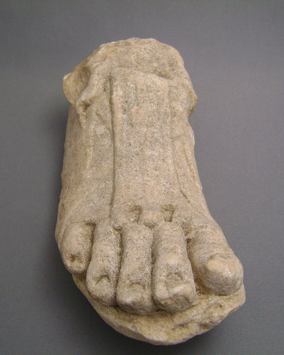 A Roman Marble Right Foot Ex. Gustave Jequier (1868-1946)
