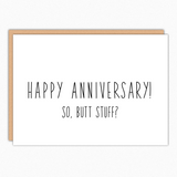 Anniversary Anal Sex Card. Suggestive Card. Kinky Anniversary Card. Sexual Fun Anniversary. Naughty Cards. Boyfriend Cards.  Butt Stuff 362