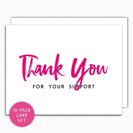 Thank You For Your Support Card Set IN152