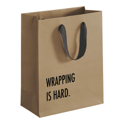 Funny Gift Bag. Birthday Gifts. Fathers Day Present. Wrapping is hard