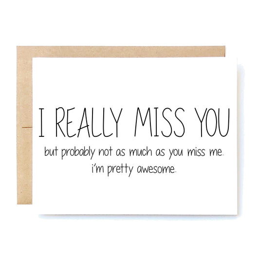Funny I Miss You Card. Missing You. Social Distancing Card. Missing Boyfriend Girlfriend Husband Wife Card i really miss you santa clarita valencia nutshell cards cheeky kumquat gifts