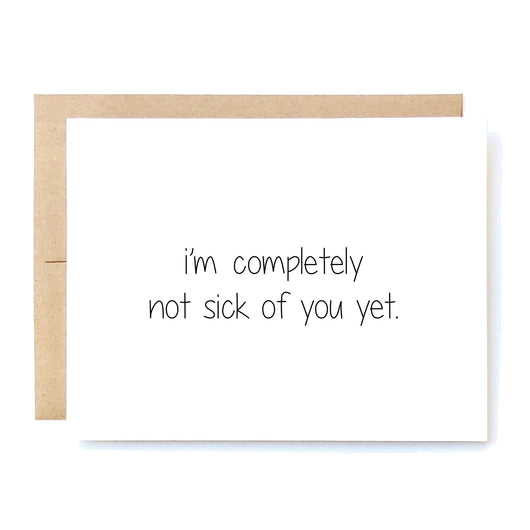 Funny Love Card. Valentines Day Card. Anniversary Card. Boyfriend Card. Girlfriend Card. Husband Wife. Valencia Santa Clarita Gifts. Not Sick Of You In A Nutshell Cards Cheeky Kumquat