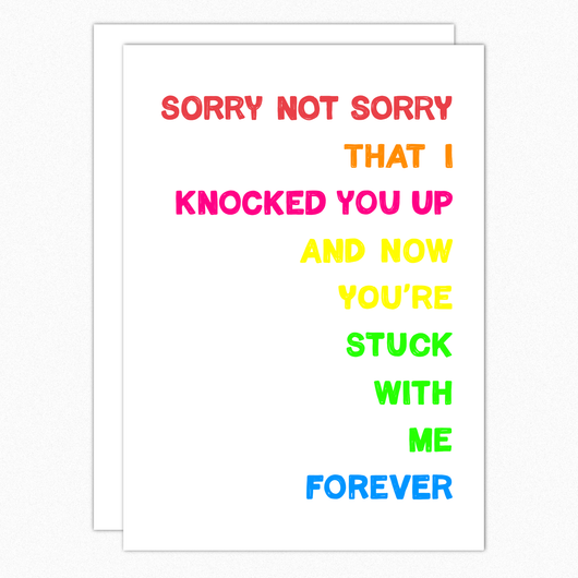 Funny Mothers Card For Wife From Husband. Funny Anniversary Card For Girlfriend. Funny Mothers Day Gift For Wife. Sorry Not Sorry 357