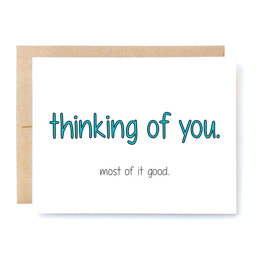 Funny Thinking Of You Card. Funny Love Card. Missing You Card. Boyfriend Girlfriend Card. LDR Long Distance Card. In A Nutshell Cards Cheeky Kumquat Santa Clarita Valencia Gifts