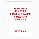 Funny Valentine's Day Card Anniversary Card Love Card For Husband Wife Girlfriend Boyfriend. Nutshell cards Here I am
