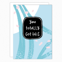 You Got This Motivational Card. Inspirational Card. New Job Card. Congrats Card. Congratulations Card. Hard Times Card. Encouragement Card
