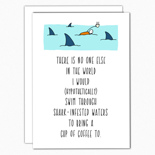valentines day card anniversary card love card shark infested waters