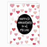 anniversary card for him for her husband wife nutshell cards inanutshellstudio