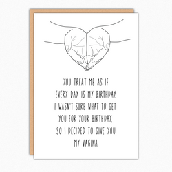 birthday card for boyfriend birthday card for husband funny birthday card every day is my birthday