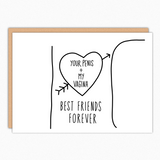 boyfriend valentines day greeting card boyfriend gift funny anniversary card funny birthday card for him best friends forever popular