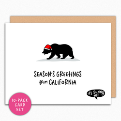 California Christmas Card Set. Seasons greetings from California. Holiday card pack. Christmas Cards Bundle