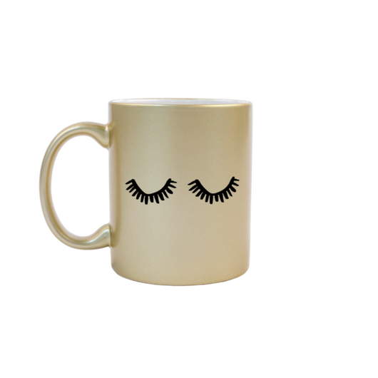 cute birthday gift for girlfriend santa clarita valencia talking out of turn gold ceramic eyelash mug