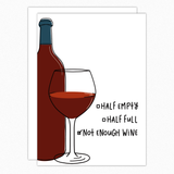 Friendship Card. Wine Card. Wine Lover Gift