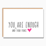 Birthday Card Boyfriend. Naughty Cards For Him. Funny Anniversary Card For Husband. Naughty Greeting Cards. You Are Enough