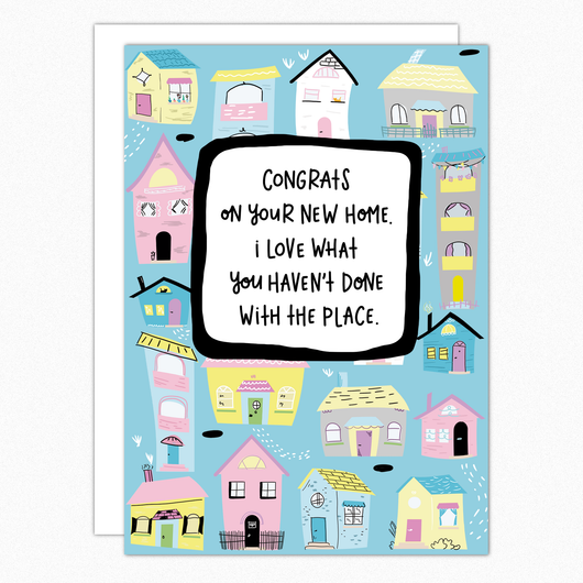 Funny New Home Card. Housewarming Gift. Funny New House Apartment Congrats Card. Rude Cheeky