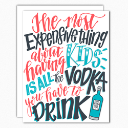funny pregnancy card funny expecting card funny new baby card expensive vodka