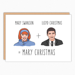 funny christmas card dumb and dumber christmas mary christmas inanutshellstudio