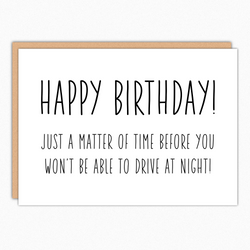 Funny Birthday Card. Rude Birthday Card. Sarcastic Birthday. Humorous Birthday Card For Friend Brother Sister. Drive At Night 363