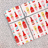 funny wrapping paper for him foodie hot sauce gift wrap nutshell cards hooray all day