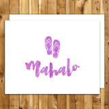 mahalo cards thank you cards set hawaii mahalo flip flops