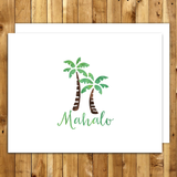 mahalo cards thank you cards set hawaii mahalo palm trees
