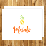 mahalo cards thank you cards set hawaii mahalo pineapple