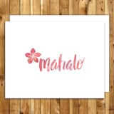 mahalo cards thank you cards set hawaii mahalo plumeria