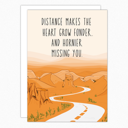 Missing You Card. Long Distance Relationship Card. Naughty Social Distancing Card, LDR.