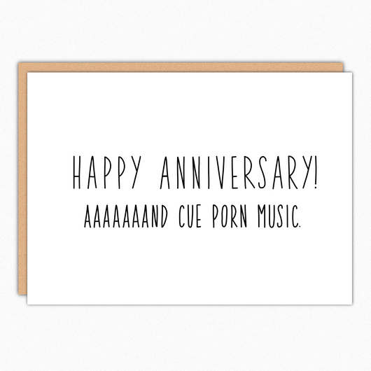 naughty anniversary card for husband for boyfriend for girlfriend funny anniversary card cue porn music nutshell greeting card