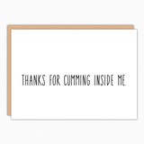 pregnancy card for husband pregnancy announcement to husband thanks for Cumming inside me best seller wholesale greeting cards