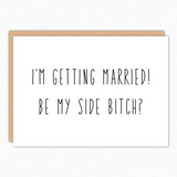 will you be my bridesmaid card wedding proposal wedding card bridesmaid ask be my side bitch popular wholesale greeting cards