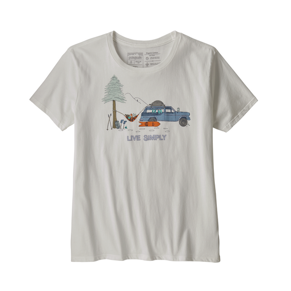 PATAGONIA WOMENS LIVE SIMPLY LOUNGER ORGANIC CREW NECK T-SHIRT