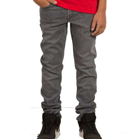 VOLCOM YOUTH SOLVER TAPERED JEANS POWER GREY