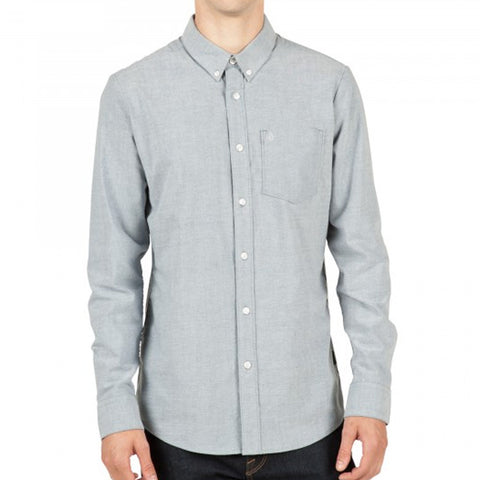 VOLCOM OXFORD STRETCH Shirt l/s SMOKEY BLU H