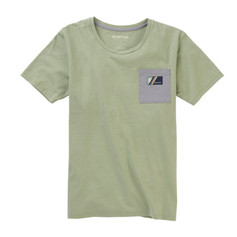 BURTON WOMENS W20 BEL MAR POCKET TEE AQUA GRAY