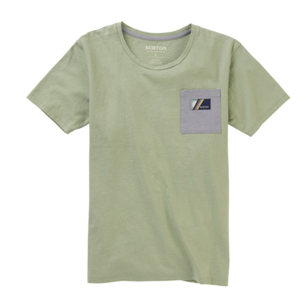 Burton Womens 2020 Bel Mar Pocket Tee Aqua Gray