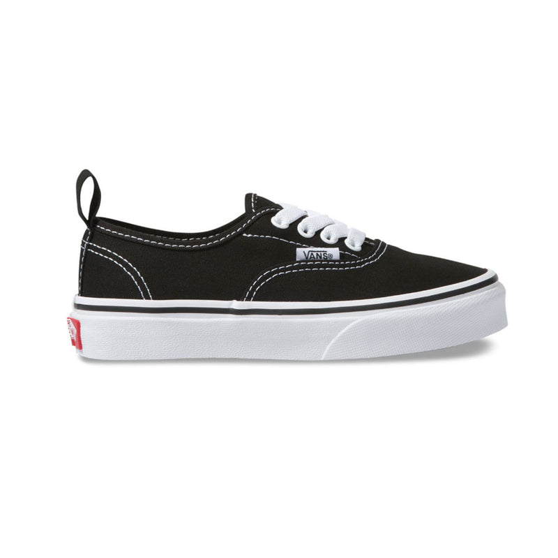 Vans Youth Authentic Elastic Lace Shoes Black / True White
