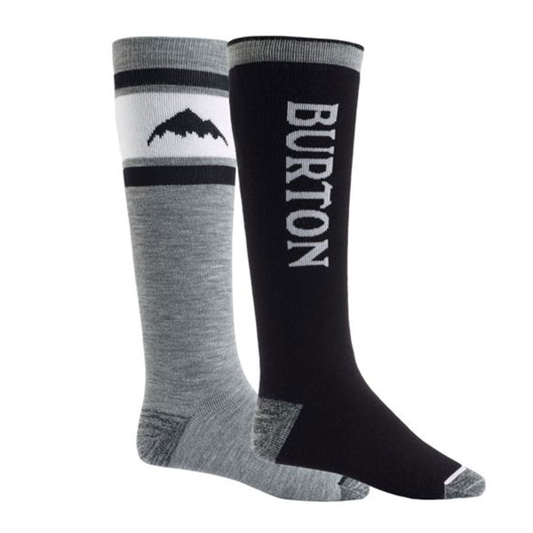 BURTON MENS 2020 WEEKEND MIDWEIGHT 2-PACK SNOWBOARD SOCKS TRUE BLACK