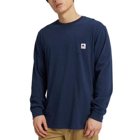 BURTON COLFAX LONG SLEEVE TEE DRESS BLUES