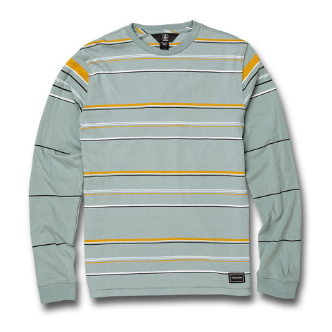 VOLCOM YOUTH CJ COLLINS CREW LONG SLEEVED TEE COOL BLUE