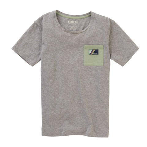 BURTON WOMENS W20 BEL MAR POCKET TEE GRAY HEATHER