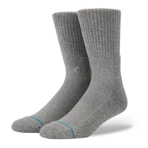 STANCE ICON SOCKS GREY HEATHER