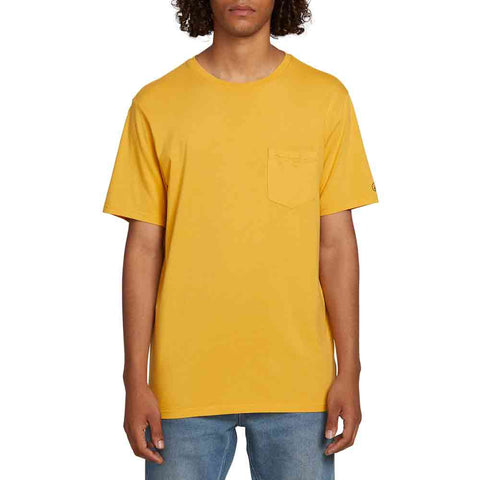 VOLCOM SOLID POCKET S/S TEE HONEY GOLD
