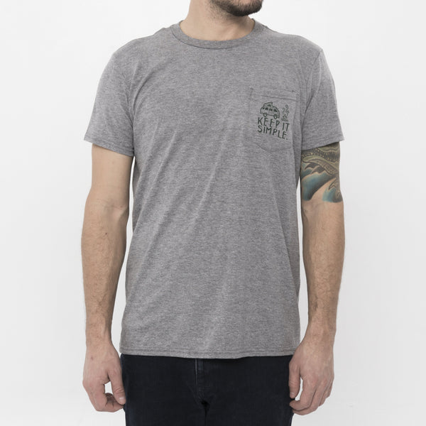 GO-VAN KEEP IT SIMPLE TEE- GREY