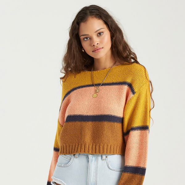 BILLABONG WOMEN SEEING STRIPES SWEATER