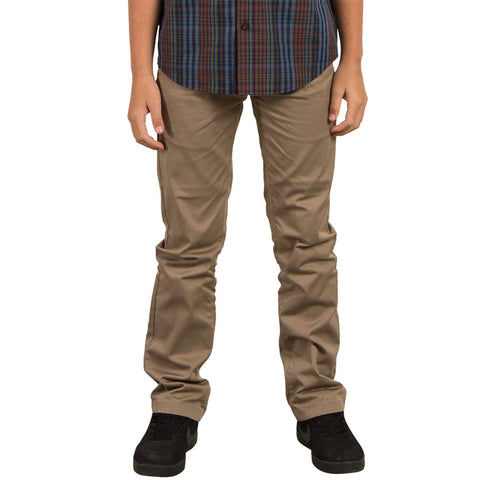 VOLCOM YOUTH FRICKIN MODERN STRETCH CHINO PANT KHAKI