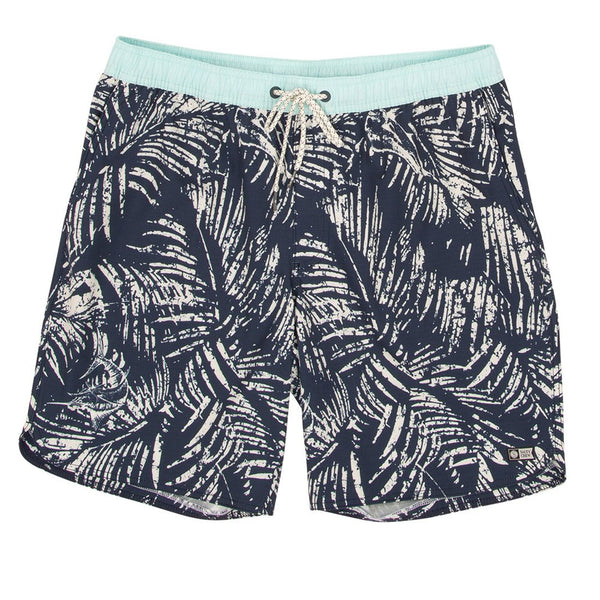 "SALTY CREW WEATHERED ELASTIC 18"" BOARDSHORT NAVY"